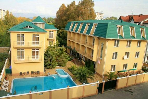 Солнечный, отель