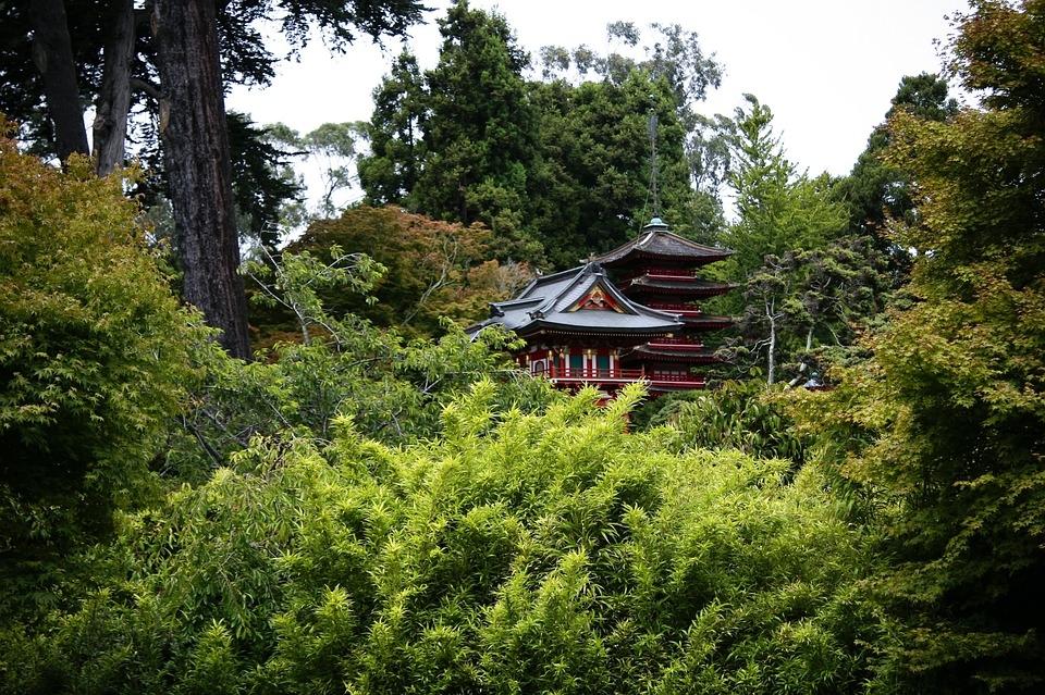 древняя гостиница в Японии